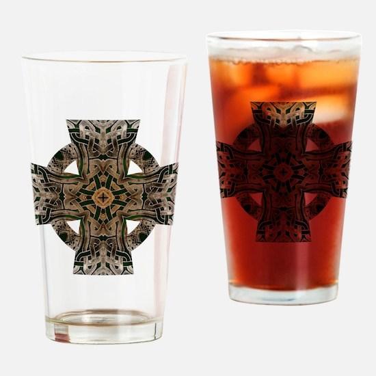 Stone Celtic Knot Celtic Cross Drinking Glass