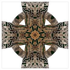 Stone Celtic Knot Celtic Cross Poster