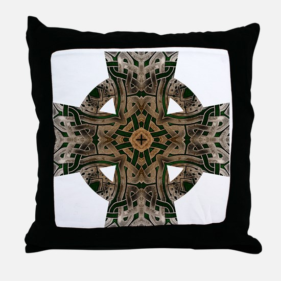Stone Celtic Knot Celtic Cross Throw Pillow