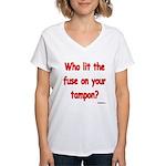 Tampon Fuse Women's V-Neck T-Shirt