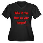 Tampon Fuse Women's Plus Size V-Neck Dark T-Shirt
