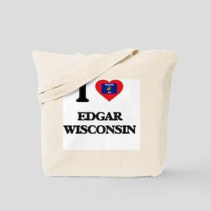 I love Edgar Wisconsin Tote Bag