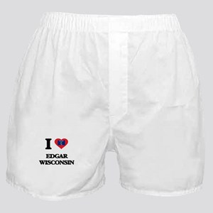 I love Edgar Wisconsin Boxer Shorts