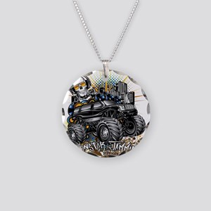 Monster Truck Jammin Necklace Circle Charm