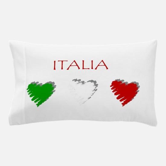 Italia Hearts Pillow Case