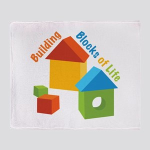 Building Blocks Of Life Throw Blanket