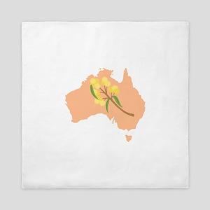Australia Country Map Golden Wattle Flower Queen D