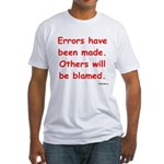 Errors have been made. Fitted T-Shirt