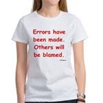 Errors have been made. Women's T-Shirt