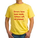 Errors have been made. Yellow T-Shirt