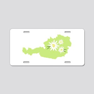 Austria Country Map Edelweiss Flower Aluminum Lice