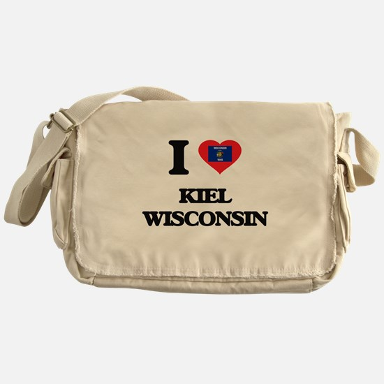 I love Kiel Wisconsin Messenger Bag