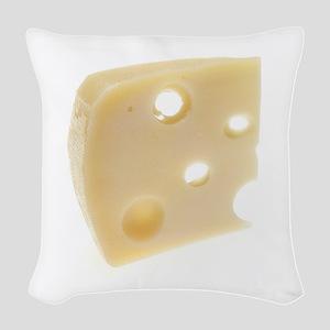 Swiss Cheese Woven Throw Pillow