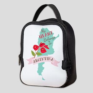 My Heart Belongs To Argentina Neoprene Lunch Bag
