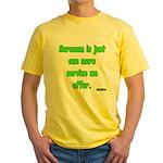 Sarcasm Yellow T-Shirt