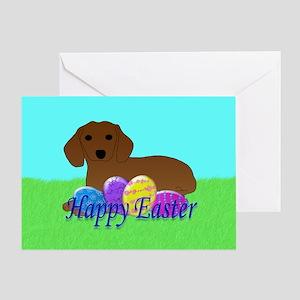 Dachshund Easter Greeting Card