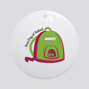 First Day Of School Ornament (Round)