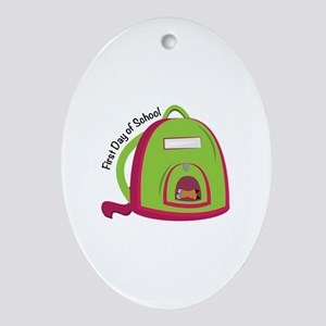 First Day Of School Ornament (Oval)