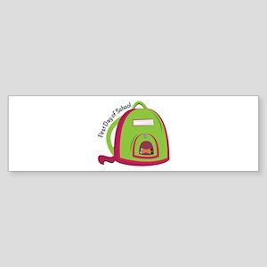 First Day Of School Bumper Sticker