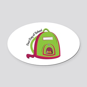 First Day Of School Oval Car Magnet