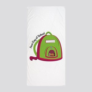 First Day Of School Beach Towel