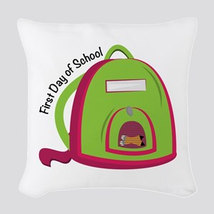 First Day Of School Woven Throw Pillow