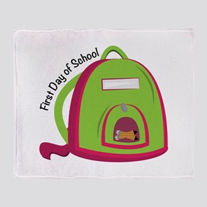 First Day Of School Throw Blanket