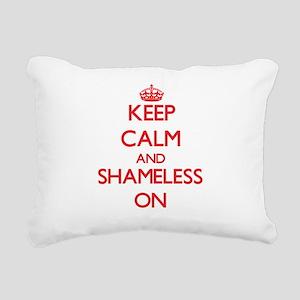 Keep Calm and Shameless Rectangular Canvas Pillow
