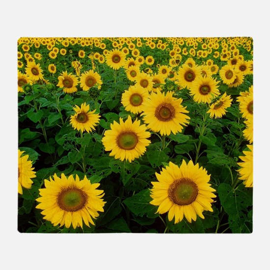 Field of Sunflowers Throw Blanket