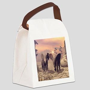 Cute baby elephant Canvas Lunch Bag