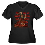 Satan's Agent Women's Plus Size V-Neck Dark T-Shir