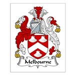 Melbourne Family Crest Small Poster