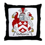 Melbourne Family Crest Throw Pillow