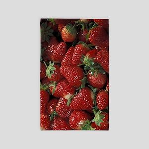 Bushel of Strawberries Area Rug