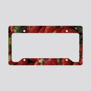 Bushel of Strawberries License Plate Holder