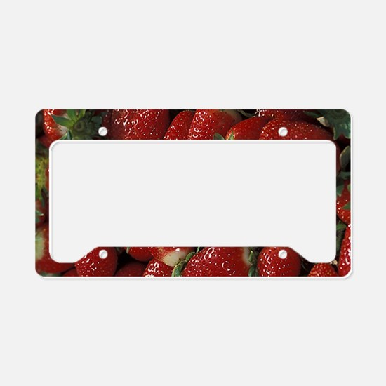 Bushel of Strawberries License Plate Holder