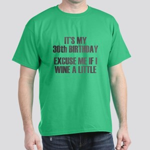 30th Birthday Wine Dark T-Shirt