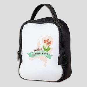 Netherlands Amsterdam Capital Neoprene Lunch Bag