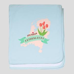 Netherlands Amsterdam Capital baby blanket