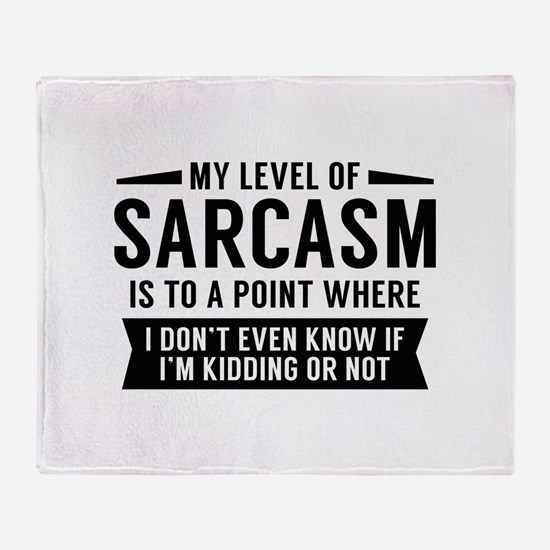 My Level Of Sarcasm Stadium Blanket