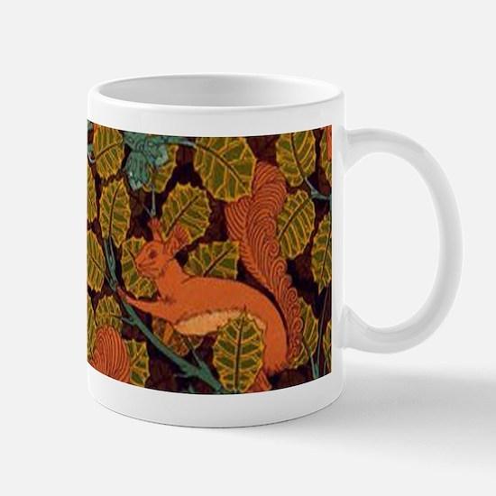 Vintage Art Deco Squirrel and Leaves Design Mugs