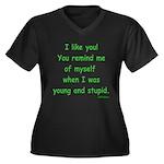 I like you! Women's Plus Size V-Neck Dark T-Shirt