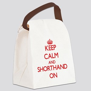 Keep Calm and Shorthand ON Canvas Lunch Bag