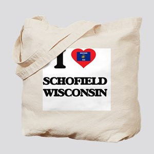 I love Schofield Wisconsin Tote Bag