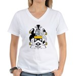 Mayo Family Crest  Women's V-Neck T-Shirt