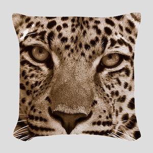 Leopard Woven Throw Pillow