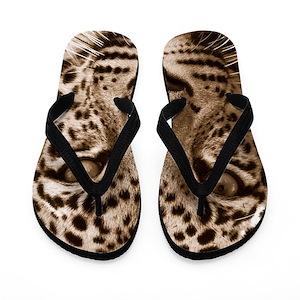 2700202c9eddd2 Leopard Flip Flops - CafePress