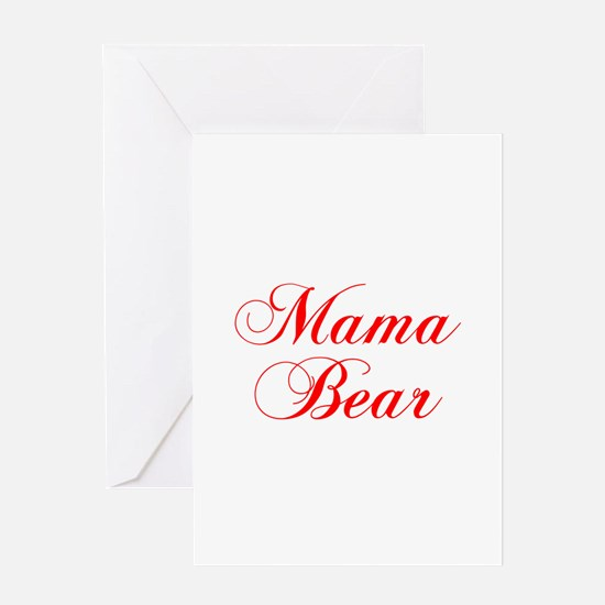Mama Bear-Cho red 300 Greeting Cards