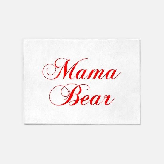 Mama Bear-Cho red 300 5'x7'Area Rug