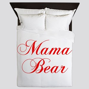 Mama Bear-Cho red 300 Queen Duvet